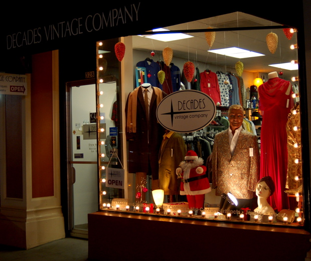 Decades Vintage Company Christmas Window