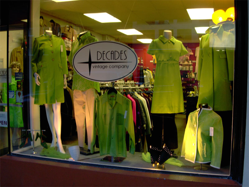St Patricks Day window Decades Vintage Company