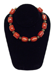 Vintage red bakelite bead necklace