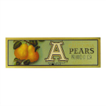 vintage fruit crate label