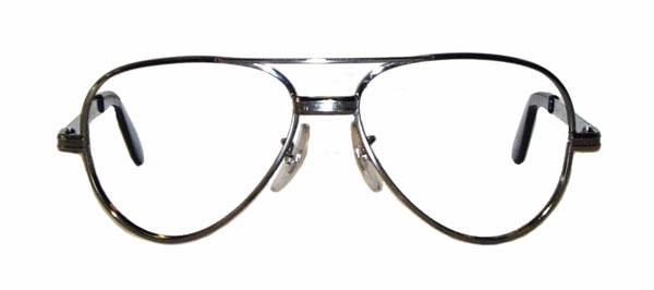 Vintage 1970s aviator style eyeglass frames