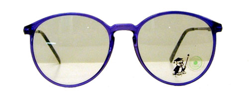 vintage 1980's preppy purple eyeglass frames