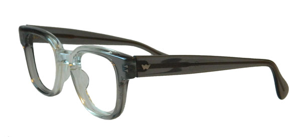 Vintage Combination Plastic And Metal Mens Eyeglass Frames
