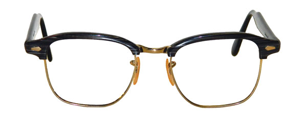 vintage 1960's mens Malcolm X style eyeglasses