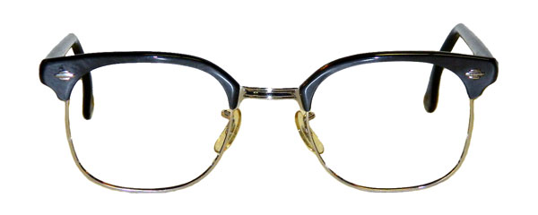 Old Man Glasses Frame : Vintage silver grey combination frames