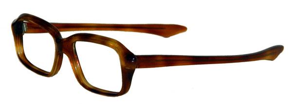 Vintage amber color eyeglass frame