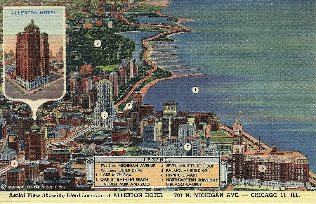 vintage Chicago postcard