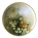 antique Haviland painted plate