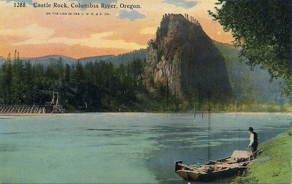 Castle Rock Oregon postcard