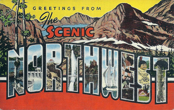 vintage Greetings from the Northwest postcard