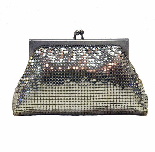 Silver Whiting And Davis Mesh Handbag