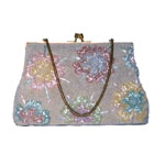 pastel color beaded handbag