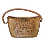 1950's tooled leather purse