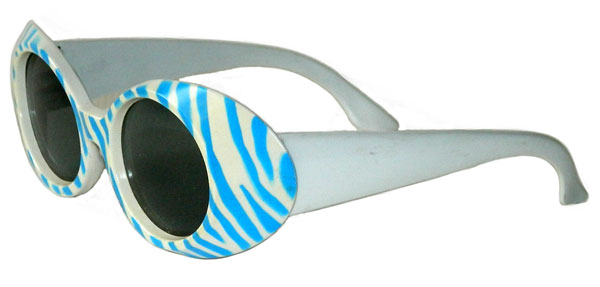 1960's zebra stripe sunglasses