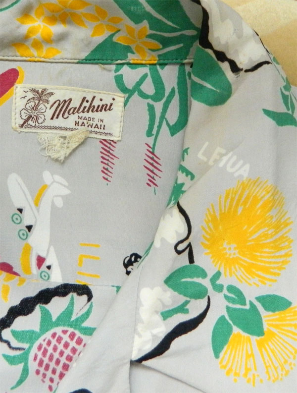3e6fd37d 1940's Malihini Hawaiian shirt