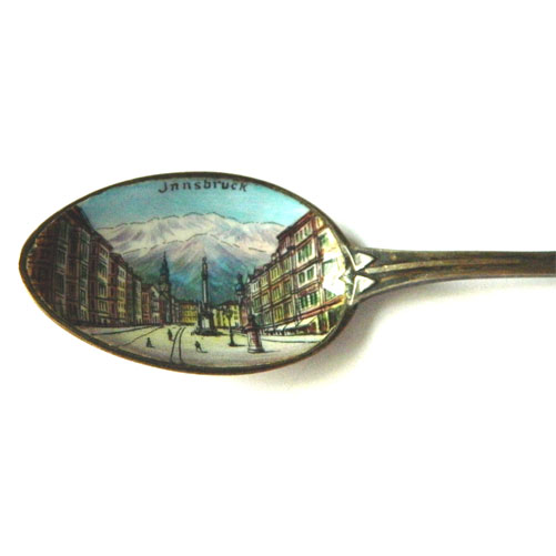 Enameled Burg Germany souvenir spoon