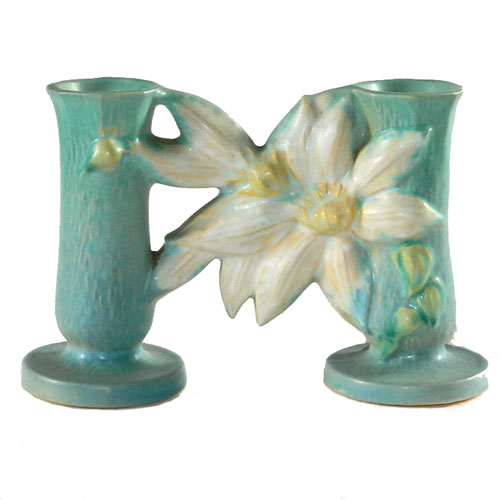 Roseville clematis double vase